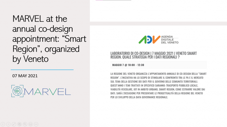 """MARVEL at the annual co-design appointment of the """"Smart Region"""", organized by Veneto"""