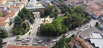 Bird view of Trento