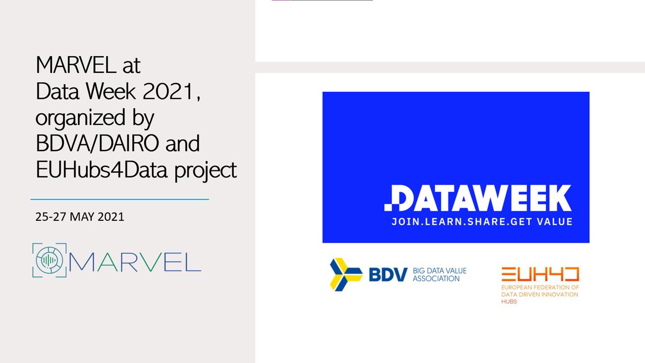 MARVEL at Data Week 2021
