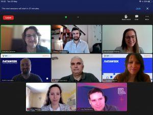 Screenshot from Dataweek virtual workshops