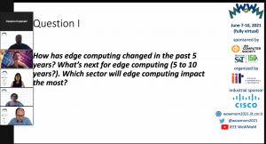 Screenshot from the virtual planel discussion