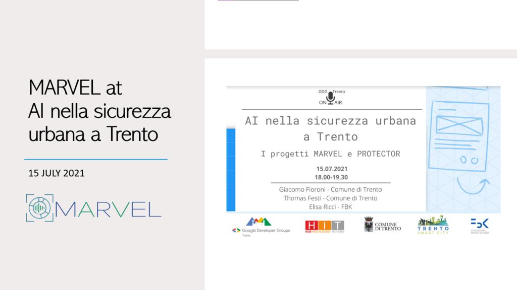 MARVEL at AI nella sicurezza urbana a Trento banner